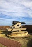 Kanone im Fort Pulaski Stockbilder
