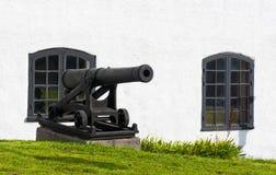 Kanone in Karlskrona lizenzfreie stockfotos