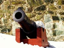Kanone Kristiansten-Fort in Trondheim Norwegen lizenzfreies stockbild