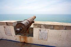 Kanone in Sitges (Barcelona, Spanien) Stockfoto