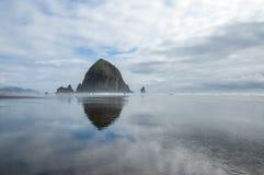 Kanone-Strand Oregon Stockbild