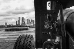 Kanone strebte Moskau-Stadt an Lizenzfreie Stockfotografie