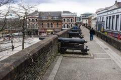 Kanonen Derry Northern Ireland lizenzfreies stockfoto