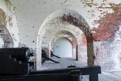 Kanonen am Fort Pulaski Stockfotos