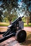 Kanonen-Größe 105 Millimeter Stockfotografie