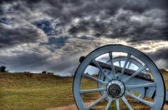 Kanonen i dalsmedja parkerar Arkivbild