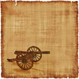 Kanonen-Pergament-Hintergrund - Bürgerkrieg-Ära Lizenzfreies Stockfoto
