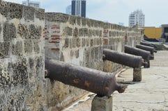 Kanonen von Cartagena stockfotografie