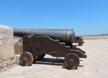 Kanoner av befästningen av Ibiza royaltyfria foton