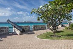 Kanoner Bridgetown Barbados Arkivbilder