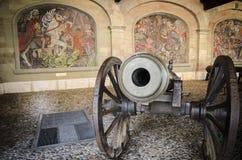 Kanoner i den gamla staden av Genève, mars 2016 Fotografering för Bildbyråer