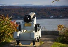 Kanoner i Quebec City, Kanada arkivbilder
