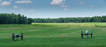 Kanoner på den Malvern kullen Arkivbild
