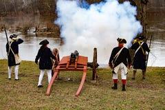 Kanoner som avfyras för general Washington Royaltyfri Bild