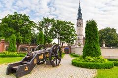 Kanoner under den Jasna Gora kloster i Czestochowa Royaltyfri Fotografi