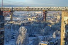 Kanonersky ö av St Petersburg, Ryssland, konstruktion av s Arkivbild