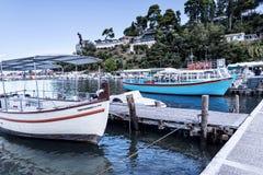 Kanoni en la isla griega de Corfú Imágenes de archivo libres de regalías