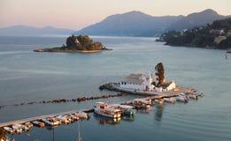 Kanoni Monastery in Corfu, Greece Stock Image