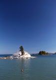 Kanoni Monastery in Corfu, Greece Royalty Free Stock Images