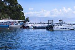 Kanoni sur l'île grecque de Corfou Photo libre de droits