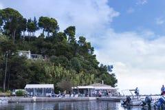 Kanoni sur l'île grecque de Corfou Photo stock