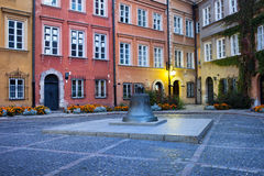 Kanonia Square in the Old Town of Warsaw Royalty Free Stock Images