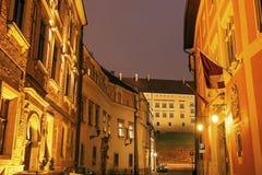 Kanonicza Street in Krakow Stock Images