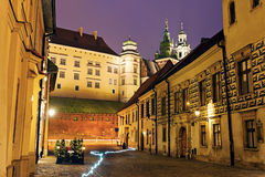 Kanonicza Street in Krakow Royalty Free Stock Photography