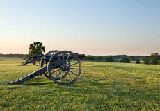 Kanonnen bij Slagveld Manassas stock fotografie