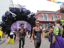 Kanonnen en rozen het kostuum van Mardi Gras Royalty-vrije Stock Fotografie