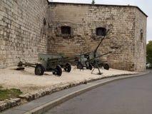 Kanonnen van de Tweede Oorlog van de Wereld Royalty-vrije Stock Fotografie