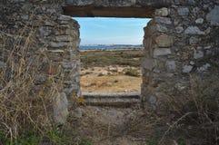 Kanonplaceringen i forte- gör Rato Fotografering för Bildbyråer