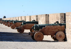 kanonu battlements essaouira Obrazy Royalty Free