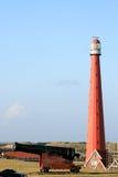kanonu holender huisduinen latarnię morską blisko Zdjęcie Stock
