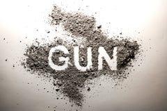 Kanonwoord in as als misdaad wordt geschreven, misdadiger, geweld, moord, DE dat stock foto