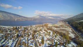Kanostrand - Vroege sneeuwval 2017 stock foto