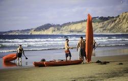Kanota för strand Royaltyfria Bilder