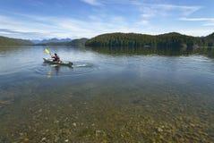Kanota i Kennedy Lake vancouver flyg- brittisk columbia i stadens centrum vancouver sikt Kanada Fotografering för Bildbyråer