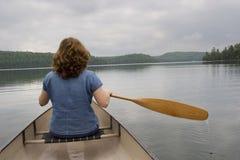 kanota kvinna Royaltyfri Fotografi