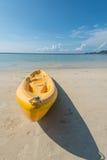 Kanota på stranden Fotografering för Bildbyråer
