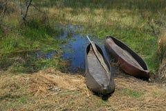 kanotar kolfiber två Royaltyfri Fotografi