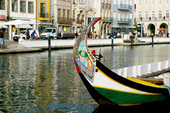 Kanoter i Aveiro, Portugal royaltyfria foton