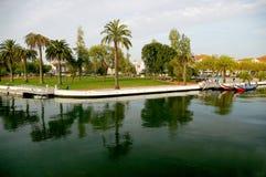 Kanoter i Aveiro, Portugal royaltyfri fotografi