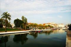 Kanoter i Aveiro, Portugal royaltyfria bilder