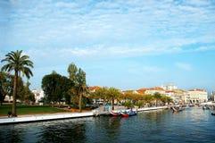 Kanoter i Aveiro, Portugal royaltyfri foto