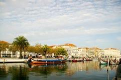 Kanoter i Aveiro, Portugal fotografering för bildbyråer