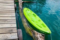 Kanoter på vatten royaltyfri bild