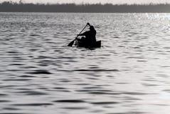 kanotfiske Fotografering för Bildbyråer