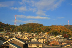 Kansai area of Train view out of train Royalty Free Stock Image