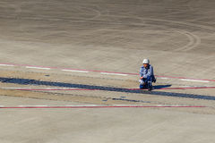 Kansai International Airport Ground Officer Royalty Free Stock Images